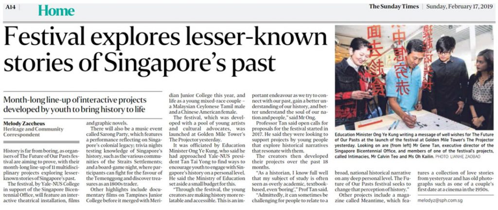 Exploring Singapore's history, TFOOP, Future of Our Pasts Festival