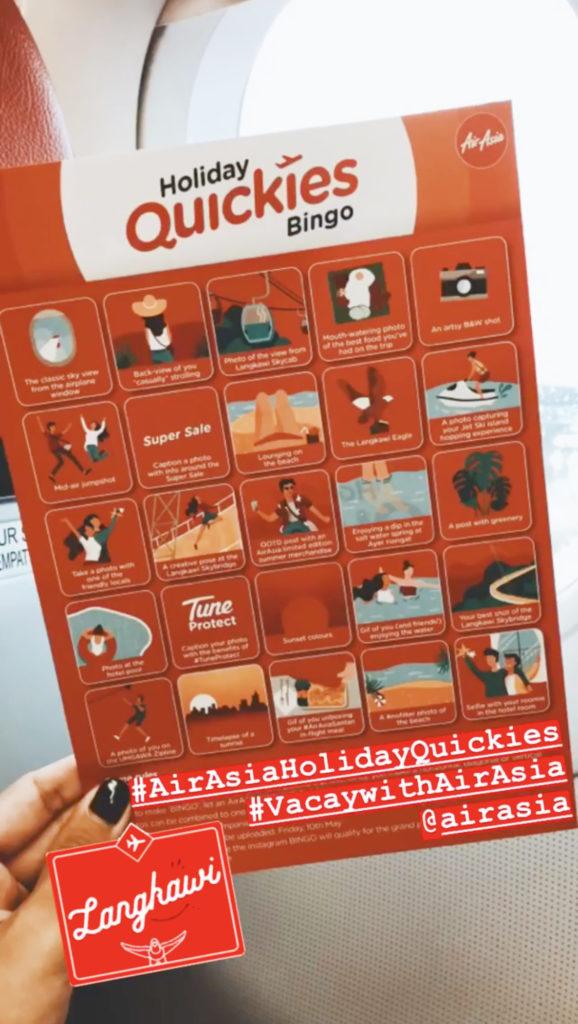 AirAsia, Holiday Quickies, Instagram Bingo