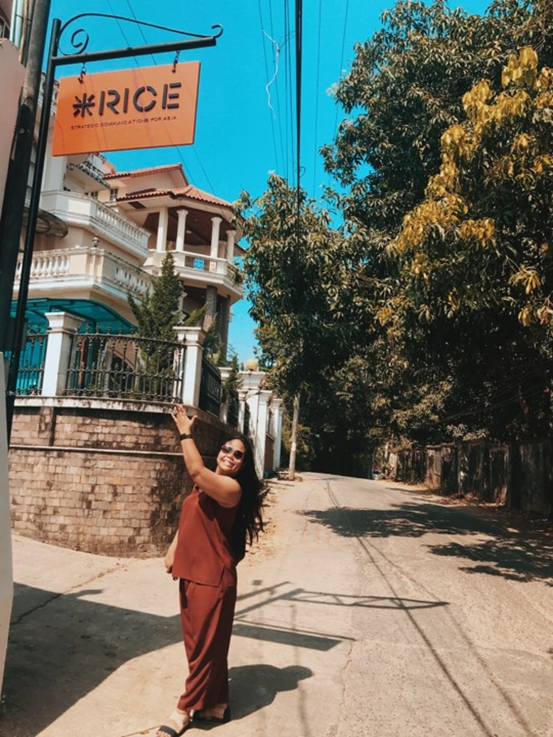 Donna Garcia at the RICE Myanmar Office; RICE Communications